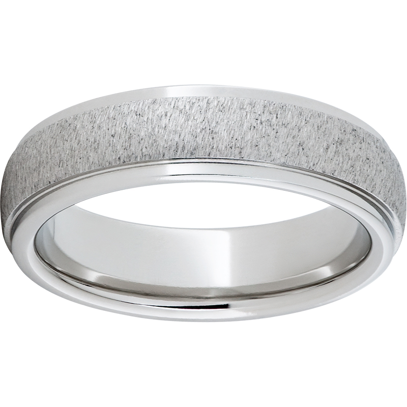 6MM DOME BAND WITH SIDE GROOVES GRAIN FINISH $405