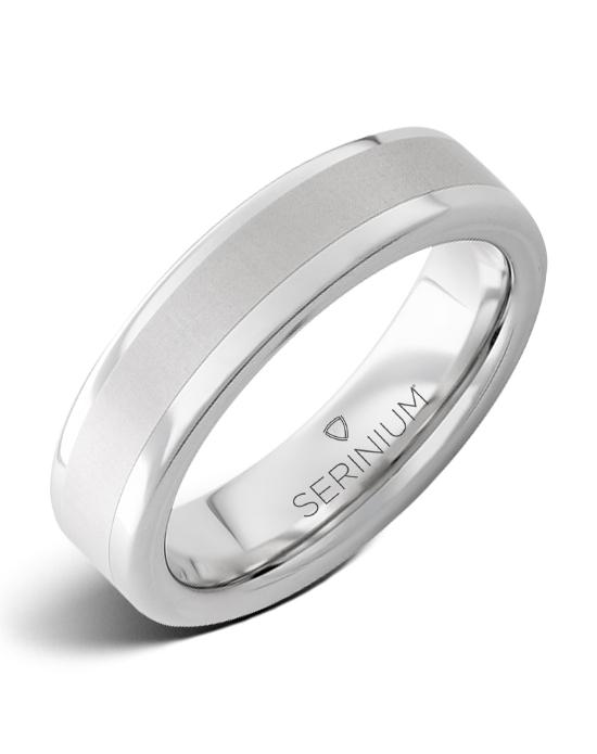 Mayfair Slim — Serinium® Satin Center Ring