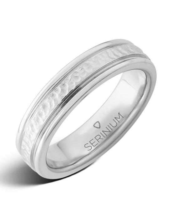 Cold Springs Slim — Hammered Serinium® Ring