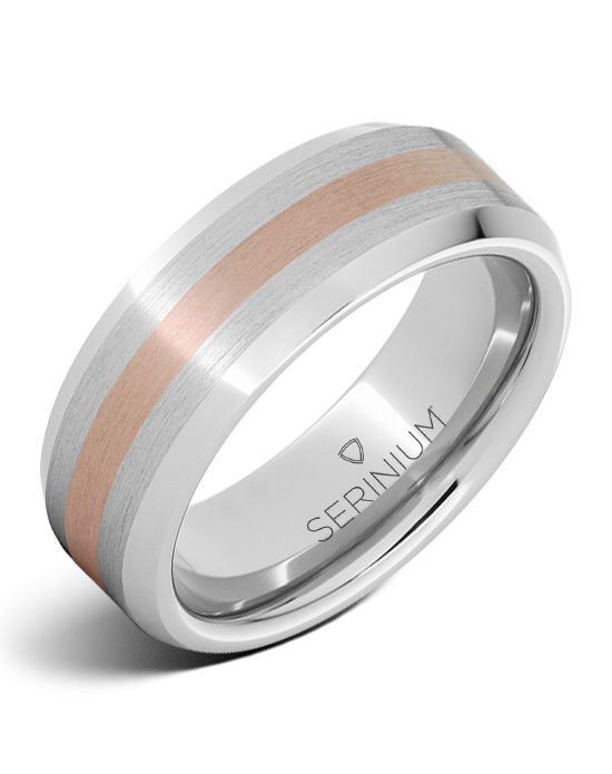Serinium® 8mm Bevel with 14k Rose Gold RMSA002066 - $1,125