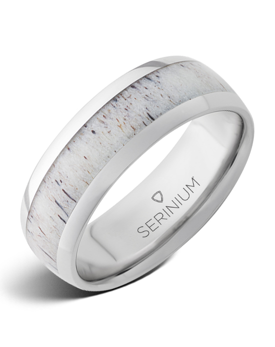 Whitetail — Antler Inlay Serinium® Ring