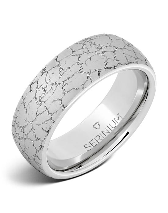 Tectonic Dome — Engraved Serinium® Ring