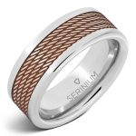 8MM Serinium® band with Copper Inlayed Rope Design RMSA002701 MSRP $690