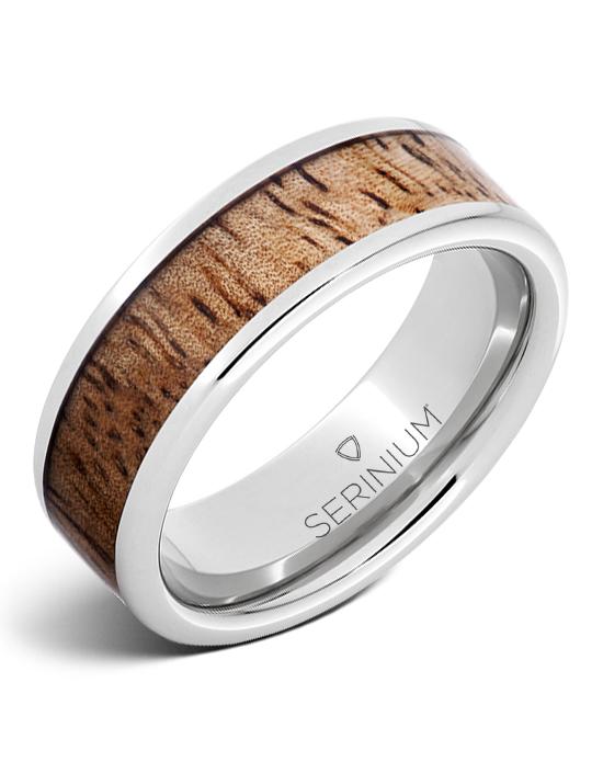 Tropical Sunset — Mango Wood Inlay  Serinium® Ring
