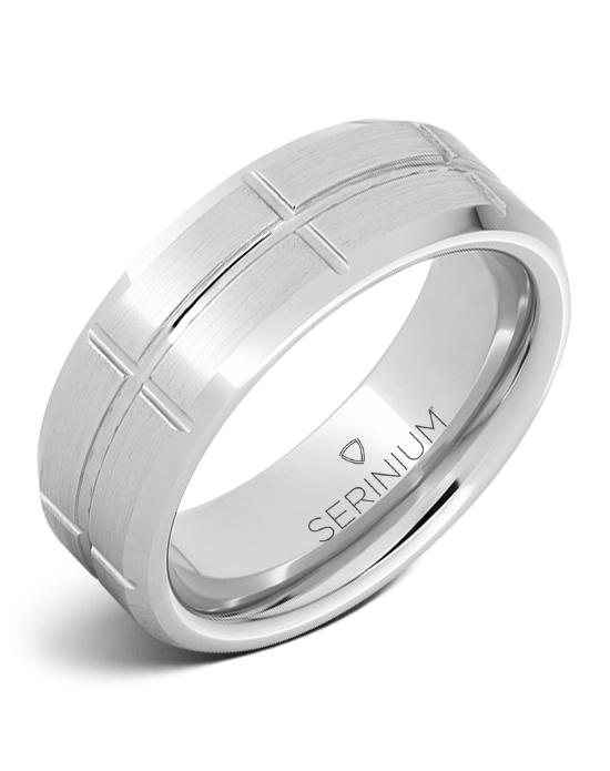 Grid — Satin Finish  Serinium® Ring