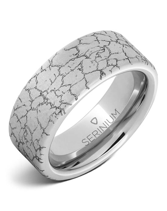 Tectonic — Engraved Serinium® Ring