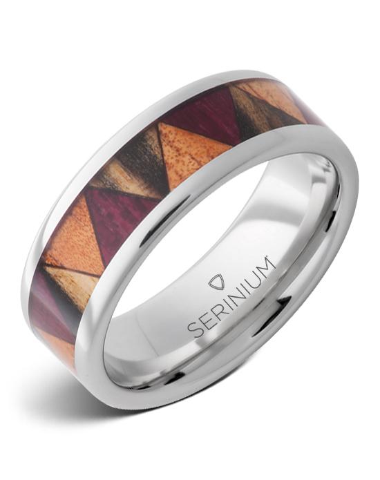 Parquet — Exotic Wood Inlay Serinium® Ring