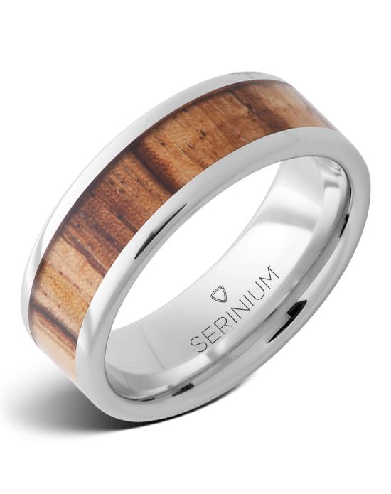 Veldt — Zebrawood Inlay Serinium® Ring