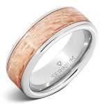 8MM Flat Serinium® band with Copper Bark2 finish RMSA005960 MSRP $690