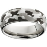 RMSA002279 Serinium® Domed Band with Camo Laser Engraving $390