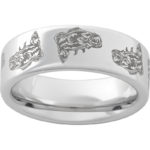 RMSA002682 Serinium® Pipe Cut Band with Bass Laser Engraving $390