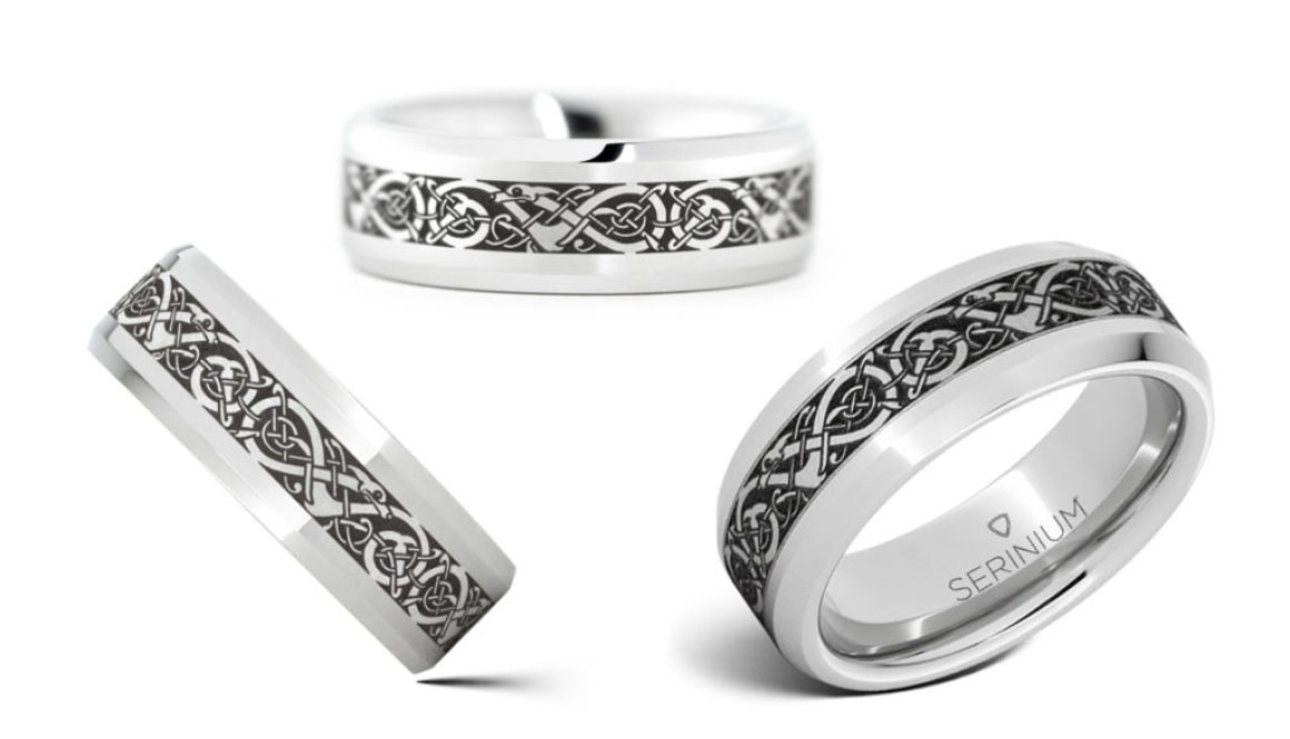 viking the traditional norse pattern - Norse Wedding Rings